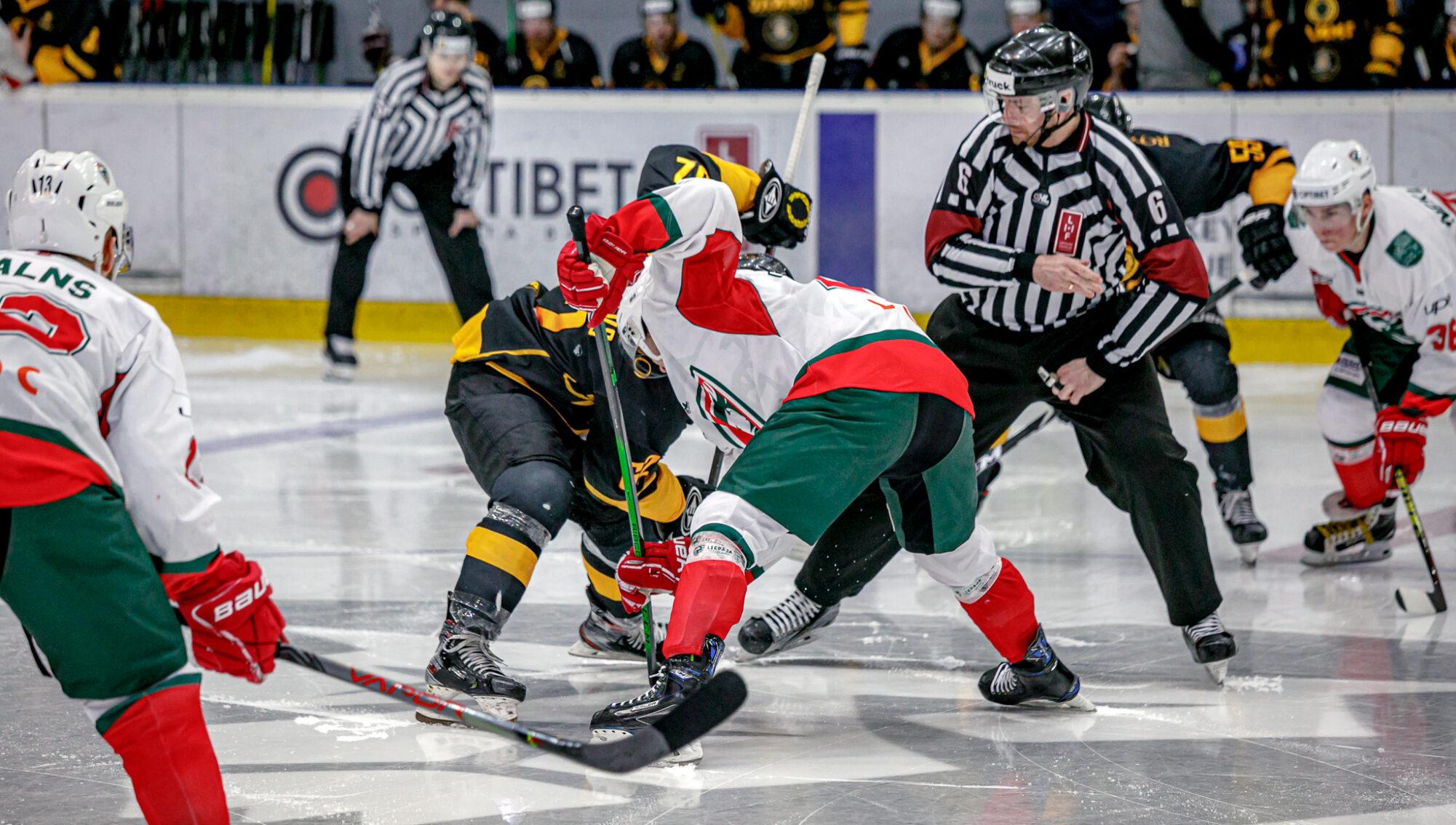 Pirmā Optibet Hokeja Līgas spēle pusfinālā 2021